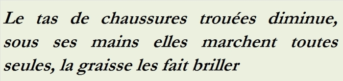 LE TAS DE CHAUSSURES TROUÉES - txt0