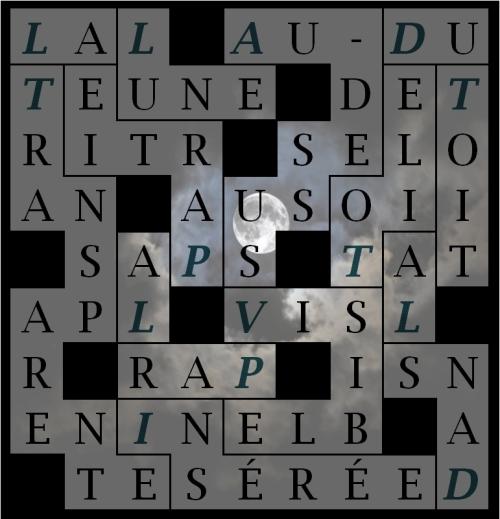 LA LUNE AU-DESSUS VISIBLE- letex
