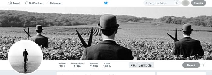 Paul Lambda Twitter