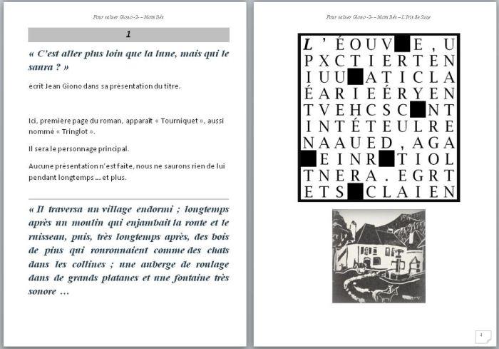 Pour saluer Giono - livret N°2-L'iris de Suze - pages 3 et 4 - difficiles